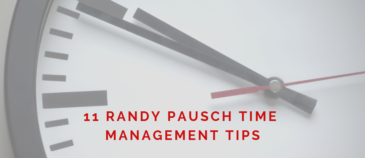 Randy Pausch time management on top of a clock