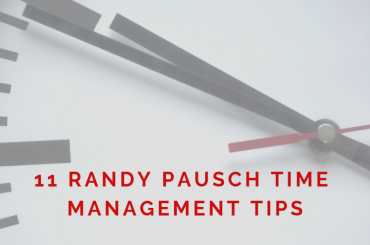 Randy Pausch time management - Featured