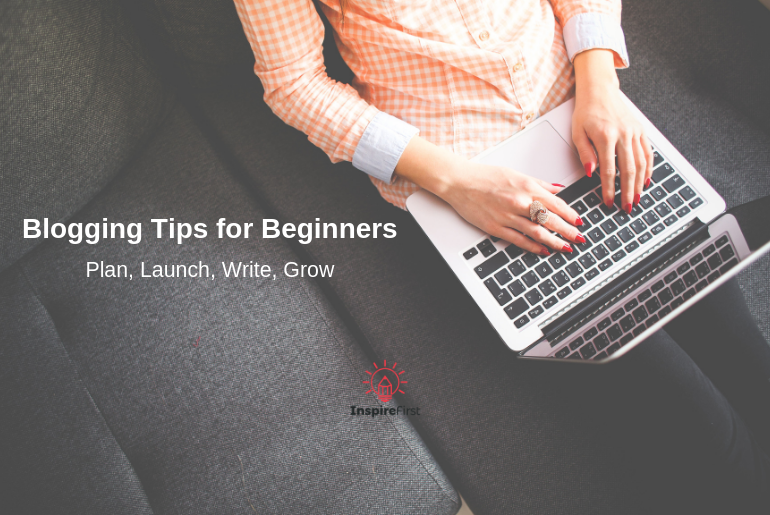 Woman Typing on a Laptop Looking for Blogging Tips for Beginners