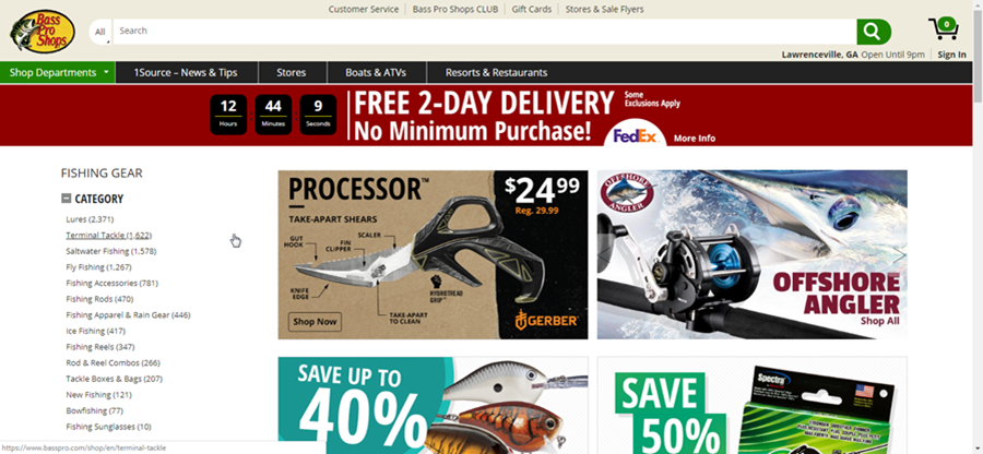 Bass Pro Shops - affiliate marketing niches