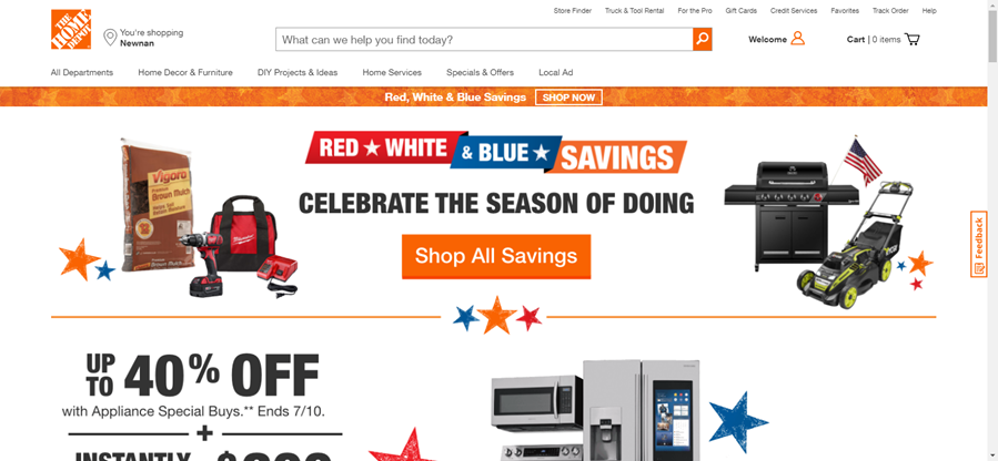 The Home Depot - affiliate marketing niches