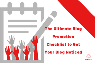 blog promotion checklist with hands raised