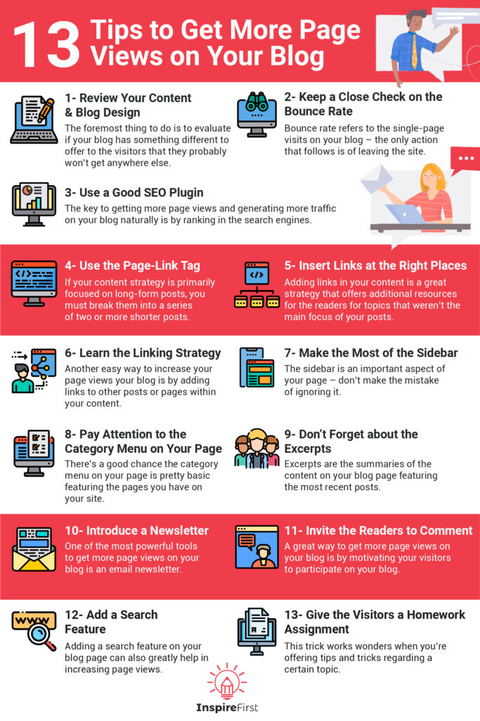 how to get more page views infographic