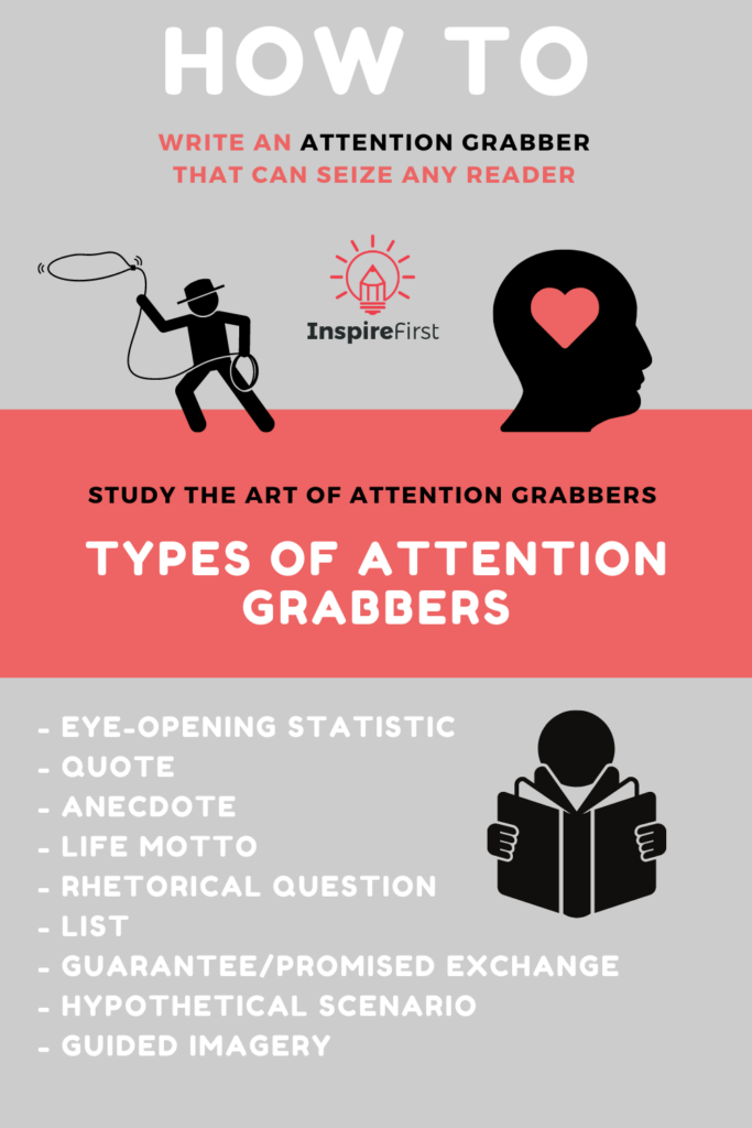 how to write an attention grabber infographic