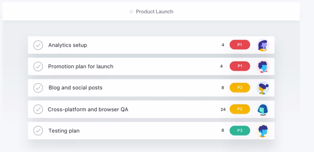 timeline - Asana project management