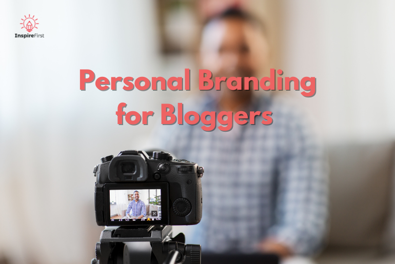 How do you build your personal brand, camera with man in background