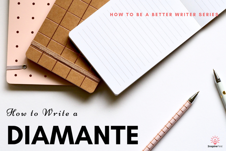 how to write a diamante with notepad