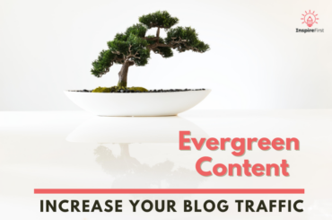 evergreen content, bonsai tree in pot with white background