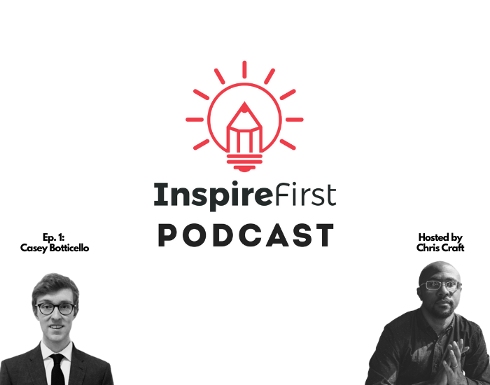 InspireFirst Podcast Episode 1 featuring Casey Botticello - Talking Medium, Substack, and the future of publishing.