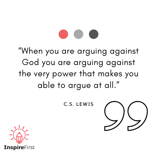 C.S. Lewis quotes on arguing against God