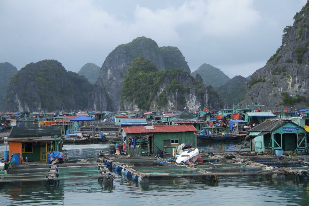 fishing village in Halong Bay - how to become a travel blogger