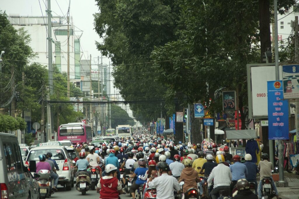 Vietnam traffic - how to become a travel blogger