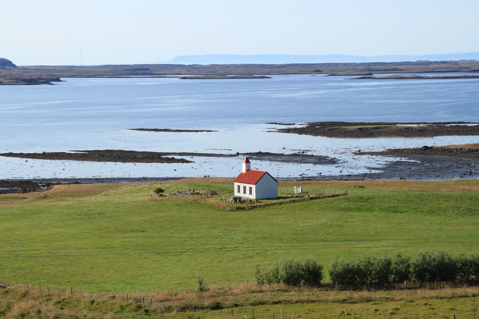 How Become a Travel Blogger with a small chapel in Iceland