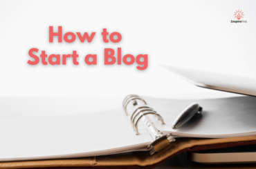 how to start a blog, notebook with laptop