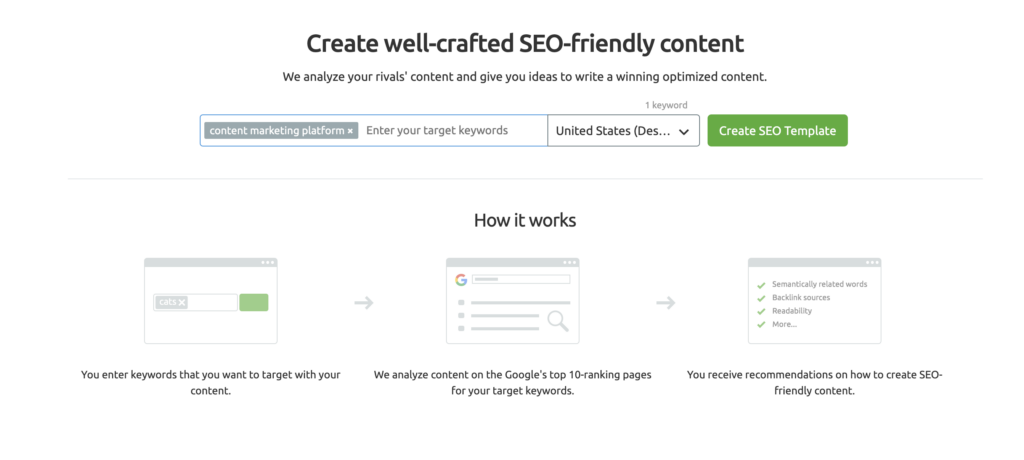 SEMrush Guru - SEO Content Template - Keyword Entry