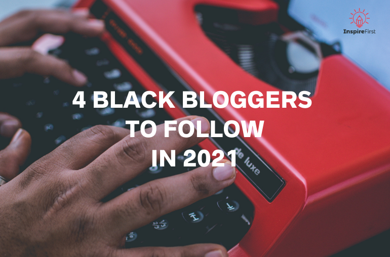 Black bloggers - black man typing on typewriter