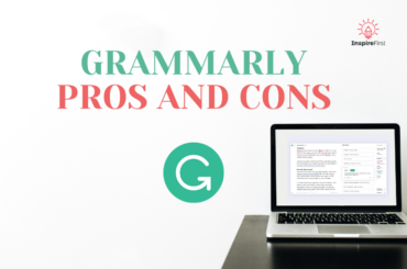 grammarly pros and cons, laptop on table