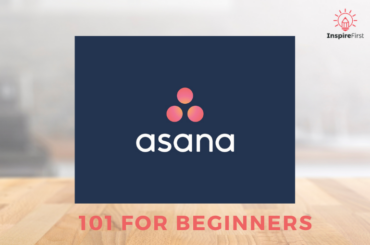 Asana 101 Training , asana logo on table background