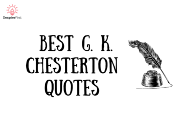 best g. k. chesterton quotes, sketch of quill and ink