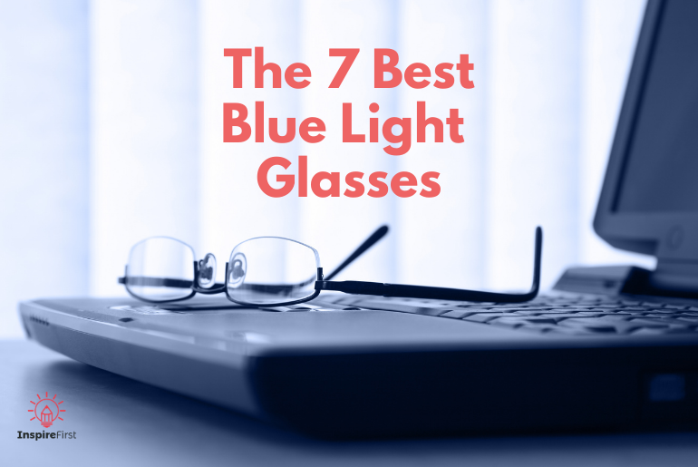 custom blue light glasses, glasses on laptop
