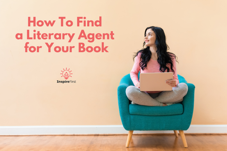 how to find a literary agent for your book, woman sitting in chair with laptop