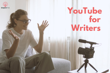writers on Youtube, woman on couch in front of recording camera