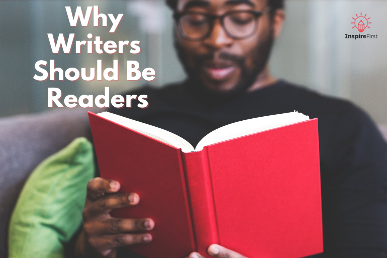 writers are readers, man reading book
