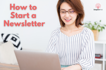 how do I start a newsletter? woman at laptop photo