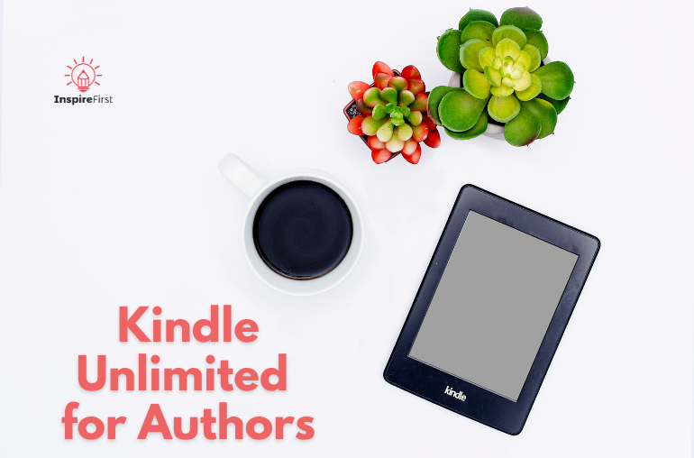 kindle unlimited rules for authors, photo of Kindle and coffee