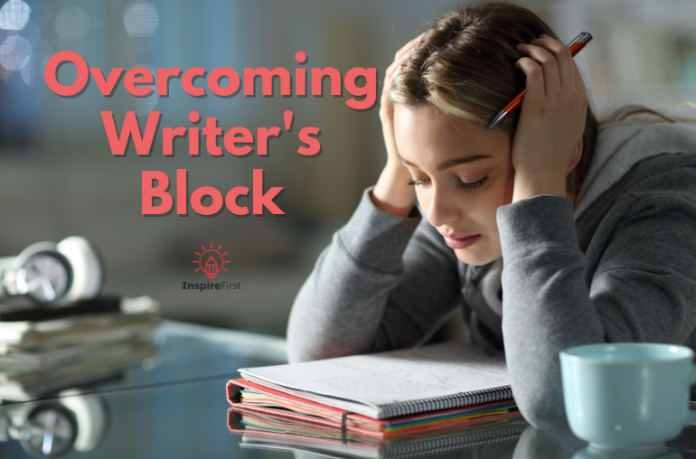 what is writer's block, discouraged writer with notepad