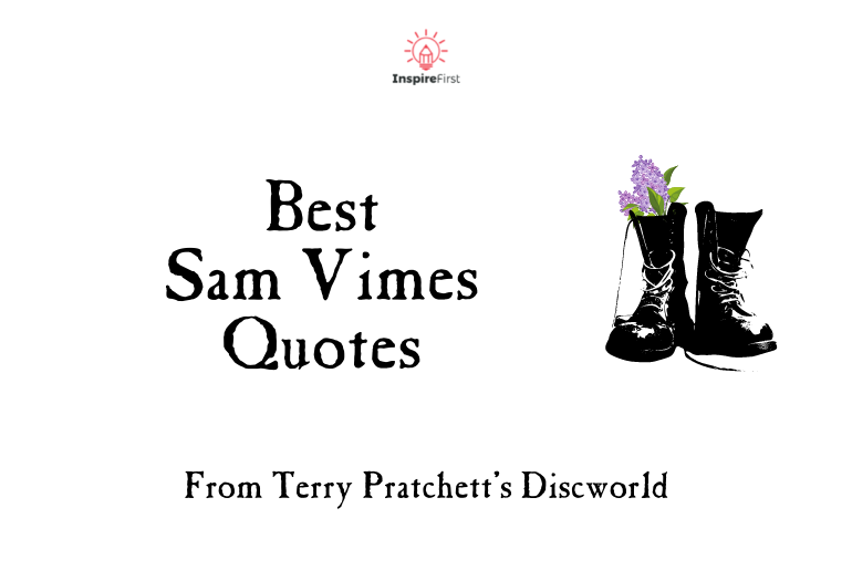 sam vimes quotes, boots with lilac sprig