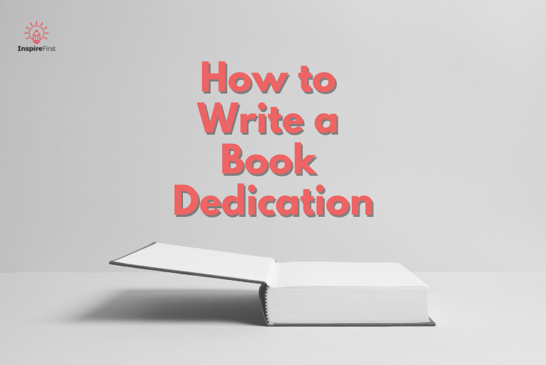 how to write a book dedication, open book